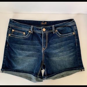 Seven7 Dark Wash Jean Shorts